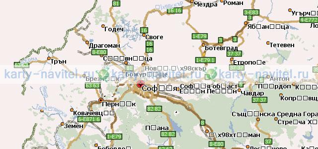 Карта Болгарии Скачать Навител